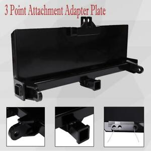 3 Point Attachment Adapter Plate Skid Steer Trailer Hitch Front Loader Skidsteer