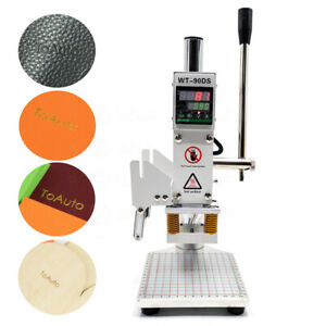 5 7cm 110v Hot Foil Leather Stamping Machine 5 7cm Embossing Logo Press Stamper