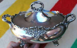 Vintage Bailey Bank And Biddle 7266 Sterling Silver 8 Soup Tureen C 1936 1128gr