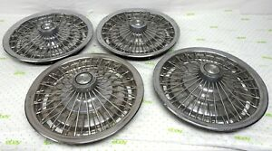 Oem 1967 68 Chevy Impala Chevelle Camaro 14 Spoked Hubcaps With Center 3908762