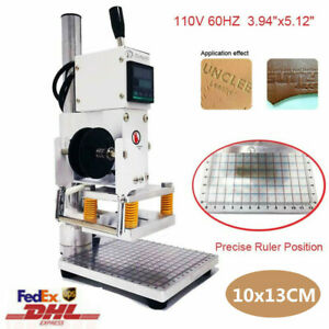 10x13cm Manual Digital Hot Foil Leather Stamping Machine 110v Embossing Pressing