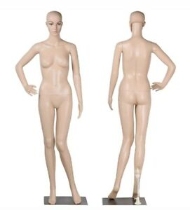 Full Body Female Mannequin Realistic Shop Display Head Turns W Base