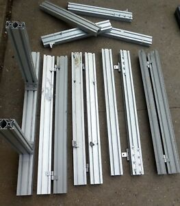 Lot Of Aluminum T slot Extruded With Hinges 39 Inches Unique Item