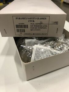 Pyramex Ztek Safety Glasses I o Mirror Lens Clear 12 Pack s2580s Nib Lot