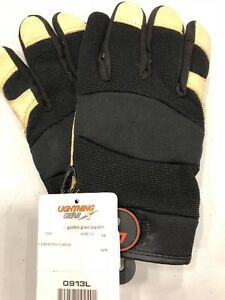 0913 Lightning Gear Goldenknight Mechanic work Gloves Large New Lot Of 18