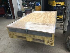 64x48x34 Pallet Box Collapsible Container Ropak Bin Storage Lid Only Trade Show