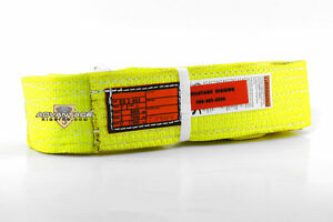 Ee2 903 X4ft Nylon Lifting Sling Strap 3 Inch 2 Ply 4 Foot Usa Made Package Of 4