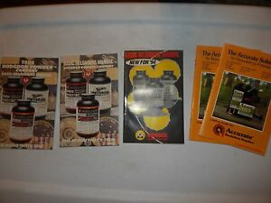 5 BASIC RELOADERS MANUALS 94 1995 HODGDON POWDER COMPANY ACCURATE SMOKELESS