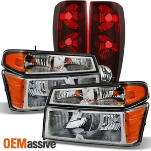 Fit 04 12 Chevy Colorado Gmc Canyon Truck Clear Headlights Tail Lights