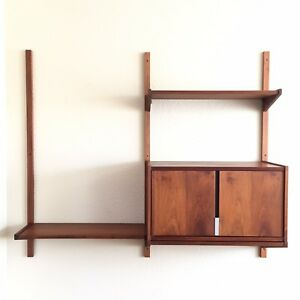 Mid Century Modern 2 Bay Cado Like Wall Unit Shelving