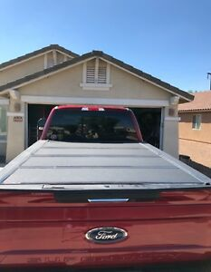 Back Flip Tonneau Truck Bed Cover 2017 2018 Ford F 250 Or F350 W 8 Ft Bed