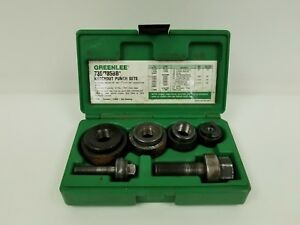 Greenlee 735bb Ball Bearing Knockout Punch Set 1 2 To 1 1 4 Conduit Pre owned
