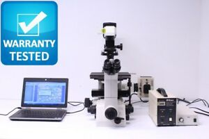 Nikon Eclipse Te300 Inverted Fluorescence Microscope Unit 6