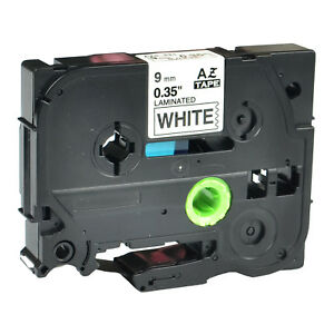 20pk Tze221 Tz 221 Black On White Label Tape For Brother P touch 9mm 3 8