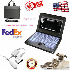 Contec Veterinary Laptop Ultrasound Scanner Machine 5 0m Micro Convex Usa Seller