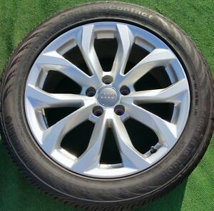 Set Of 4 New Genuine Oem Factory Audi A6 18 Inch Wheels Continental Tires S6