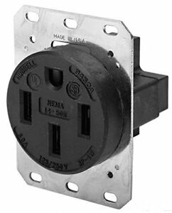 Hubbell Hbl9450a Wiring Device Grounding Receptacle 50 Amp 125 250 Volt 3 Pole 4