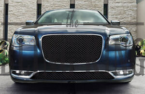 Fits 2015 2020 Chrysler 300 Black Mesh Grill Upper And Lower Bentley Grille 2pc