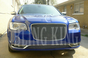 Fits 2015 2020 Chrysler 300 Chrome Mesh Grill Upper And Lower Bentley Grille 2pc