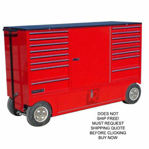 Rsr Double Small Rolling Mobile Toolbox Storage Pit Box Wagon Cart