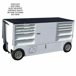Rsr Rolling Mobile Toolbox Work Station Pit Box Storage Wagon Cart