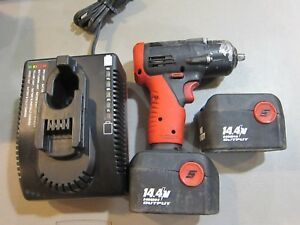 Snap On 14 4v 3 8 Drive Cordless Impact With 2 Batteries Charger Ships Free