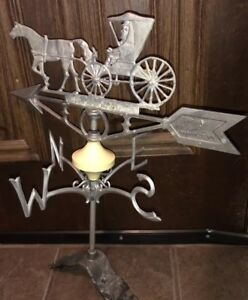 Antique Vintage Amish Horse Buggy Weather Vane Nice Old Piece Of History