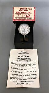 Vintage Starrett Universal Dial Test Indicator 196b In Original Box W paperwork