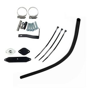Black Egr Valve Cooler Delete Kit For 11 14 Ford 6 7l Powerstroke Diesel