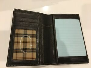 Levenger Bomber Jacket International Pocket Briefcase Index Card Notepad New