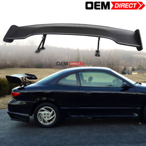 Fit Mini 57 Inches Jdm Gt Style Adjustable Trunk Spoiler Unpainted Black Abs