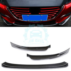 For Mazda 3 Axela 2017 Carbon Fiber Front Lower Bumper Protector Cover Trim X Uy
