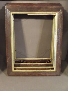 Lot Of 4 Matching Antique Vintage Wooden Picture Frames No Glass Backs