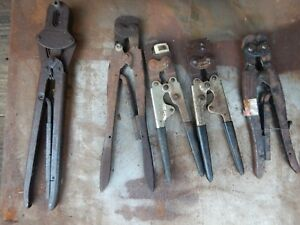 Crimpers For Wire Terminals 5 Set 1 Lot