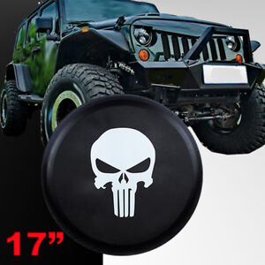 Skull Spare Tire Cover Fit For Jeep Wrangler 17 Size Xl Wheel Tire Cover 31 33