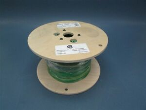 New 1000 Roll Of 14 Awg Green W Yellow Mtw Or Amw Insulated Wire