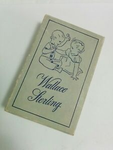 Box For Antique Wallace Sterling 2 Pc Infant Silverware Set Washington