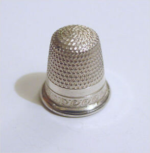 Antique Childs Size 3 Sterling Silver Thimble Nr