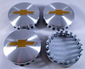 4 X83mm For Chevy 2014 2018 Chevrolet 3 25 Brushed Aluminum Wheel Center Caps