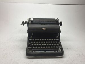 Vintage Black Royal Touch Manual Typewriter With Glass Keys In Good Condition
