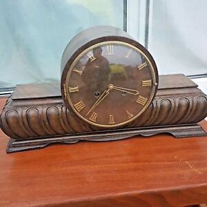 Art Deco German Kienzle Westminster Walnut Chiming Clock