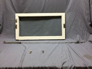 Antique Door Transom Window With Hardware Pivot Vintage Old 17x32 390 18c