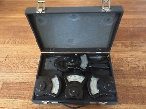 Vintage Columbia Electric Co Tong Test Ammeter Kit Orig Case 1000a Ex Cond