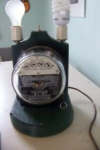 Electrical Power Usage Watt Demonstration Light Set With Sangamo Ja Meter Head
