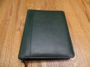 Franklin Covey Quest Planner Binder Organizer Classic 2 Verona Leather Green
