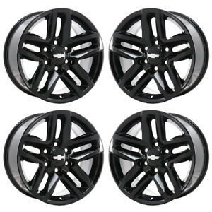 18 Chevrolet Silverado 1500 Truck Black Wheels Rims Factory Oem 2019 Set 96098
