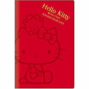 Star Stationery Sanrio Slim Life Notebook 2019 A5 Weekly Hello Kitty Red F s New