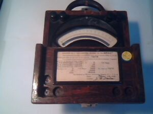 Vintage Weston Model 45 Electric Instrument Voltmeter 0 150v Dc Meter Wooden Box