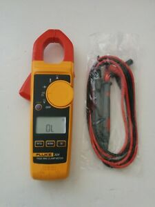 Fluke 324 True Rms Ac Current Amp Clamp Meter Multimeter Test Lead Probes
