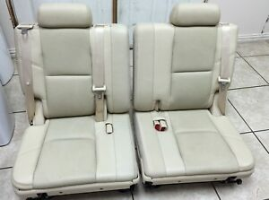 2007 2014 Denali Escalade 3rd Third Row Seat Cashmere Leather 07 14 Yukon